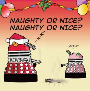 TW164 – Naughty or Nice Merry Christmas Card